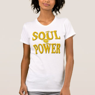 Camiseta retra fresca del poder del alma del oro