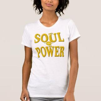 Camiseta retra fresca del poder del alma del oro remeras