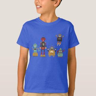 Camiseta retra linda de los robots
