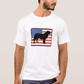 Camiseta revestida plana americana del perro