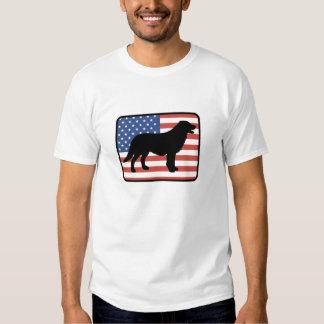 Camiseta revestida plana americana del perro playera