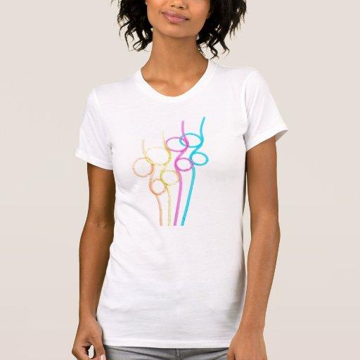 Camiseta rizada de la paja
