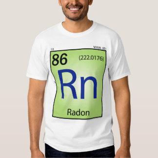 Camiseta (Rn) del elemento del radón - frente Playeras