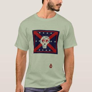 camiseta roja, blanca, azul del gris de la bandera