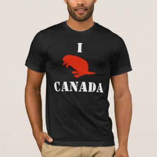 Camiseta roja de American Apparel del castor del