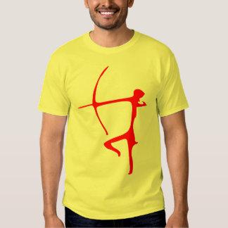 Camiseta roja de Archer Poleras