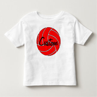 Camiseta roja de encargo del voleibol
