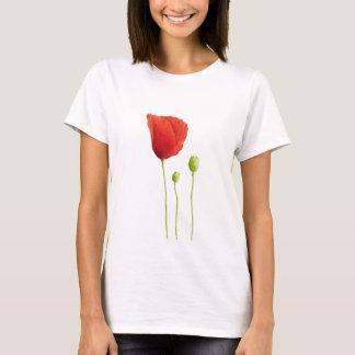 Camiseta roja de la amapola