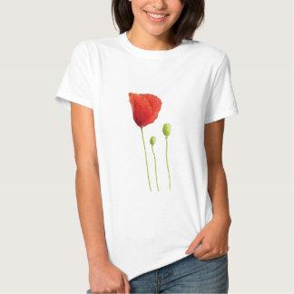 Camiseta roja de la amapola remera