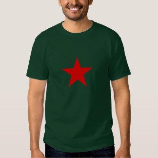 Camiseta roja de la estrella polera