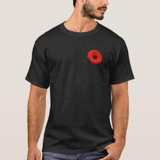 Camiseta roja de la flor de la amapola del día de