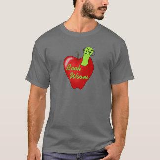 Camiseta roja de la oscuridad del gusano de libro