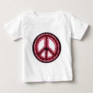 camiseta roja de la paz playera