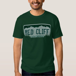 Camiseta roja de la placa de los individuos de polera