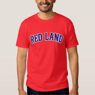 Camiseta roja de la tierra polera