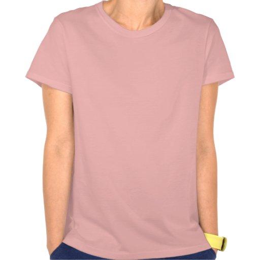 Camiseta roja de las señoras de los números 3 tont