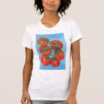 Camiseta roja de las señoras de los tomates