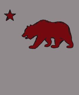 Camiseta roja de las señoras del símbolo del oso d