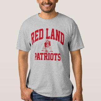 Camiseta roja de los patriotas de la tierra poleras