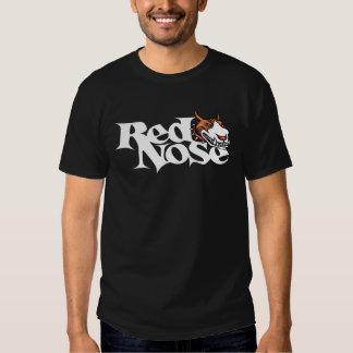 Camiseta roja de Pitbull del día de la nariz Camisas