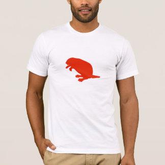 Camiseta roja del AA del himno del castor del día