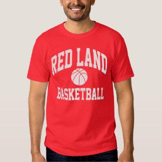 Camiseta roja del baloncesto de la tierra remera
