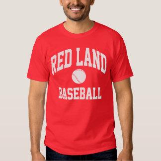 Camiseta roja del béisbol de la tierra poleras
