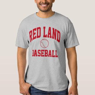 Camiseta roja del béisbol de la tierra remeras