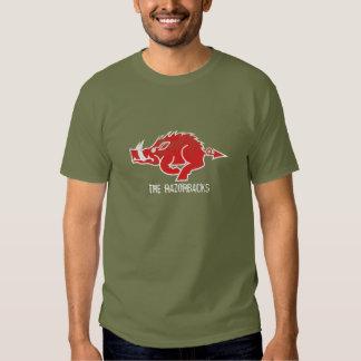 Camiseta roja del cerdo remeras
