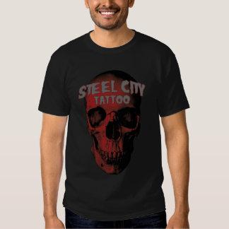 Camiseta roja del cráneo playeras
