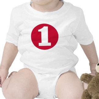 Camiseta ROJA del CUMPLEAÑOS del RECORTE #1 de la