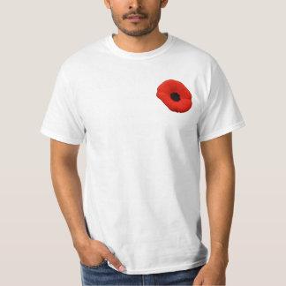 Camiseta roja del día de la conmemoración de