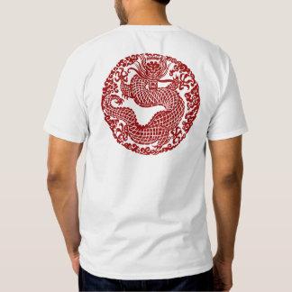 Camiseta roja del dragón poleras