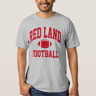Camiseta roja del fútbol de la tierra polera