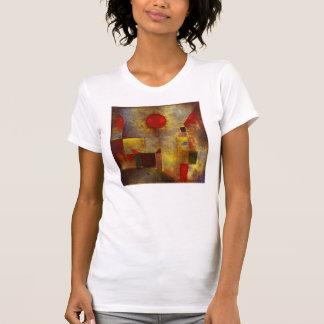 Camiseta roja del globo de Paul Klee Camisas