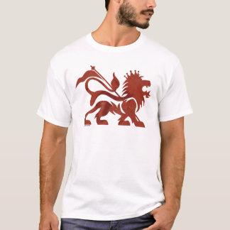 Camiseta roja del león de Ras por Skidone