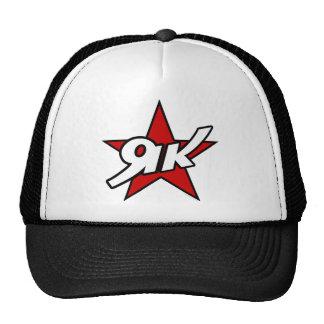 Camiseta roja del logotipo de la estrella de los y gorra