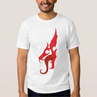 Camiseta roja del logotipo del dragón remera