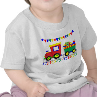 Camiseta roja del niño del tren de Choo-Choo