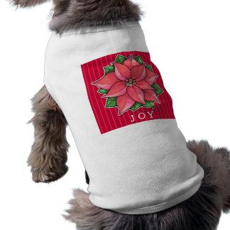 Camiseta roja del perrito de la alegría del Poinse Camisetas Mascota