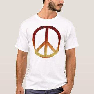 Camiseta roja del símbolo de paz y amarilla