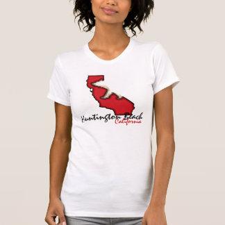 Camiseta roja del símbolo del oso de Huntington Be