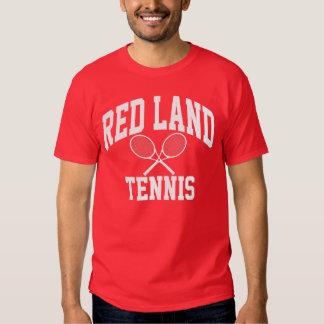 Camiseta roja del tenis de la tierra polera