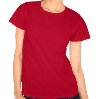 Camiseta roja del tenis para las mujeres con el re
