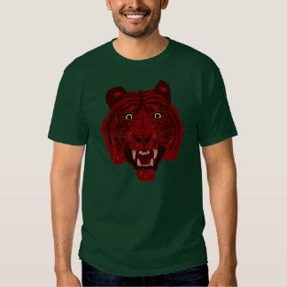 Camiseta roja del tigre poleras