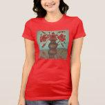 ¡Camiseta roja hermosa del hibisco para las