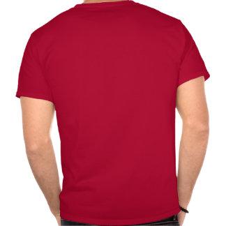 Camiseta roja para hombre del friki del ordenador
