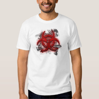Camiseta roja superior del Biohazard Poleras