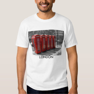 Camiseta roja teñida B/W de las cabinas de Remera