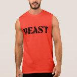 Camiseta roja ultra sin mangas del gimnasio de los